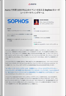 Asanaで年間1,000件以上のイベントを支えるSophosのコーポレートマーケティングチーム
